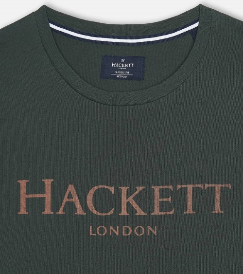 Hackett London Camiseta Green detalle