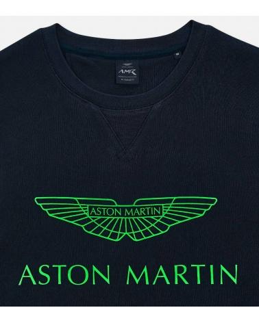 Hackett London Sudadera Marino Logo Green detalle