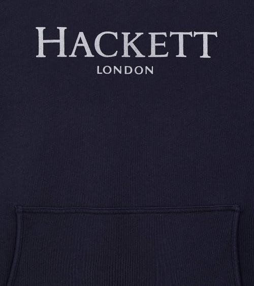 Hackett London Sudadera Capucha Navy logo