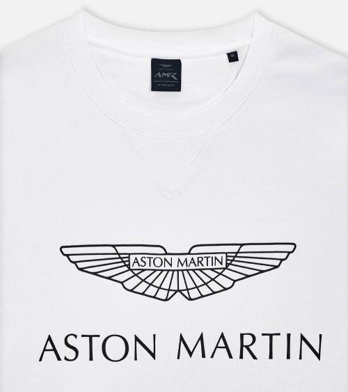 Hackett London Sudadera Aston Blanca detalle