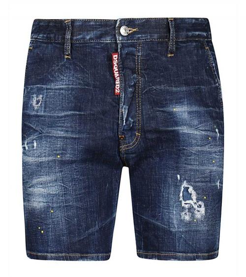 Dsquared2 Bermuda Jeans Maxi Etiqueta