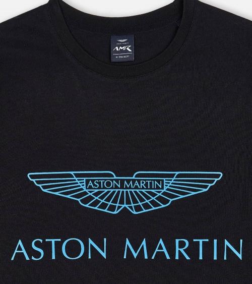 Hackett London Camiseta Negra Aston detalle