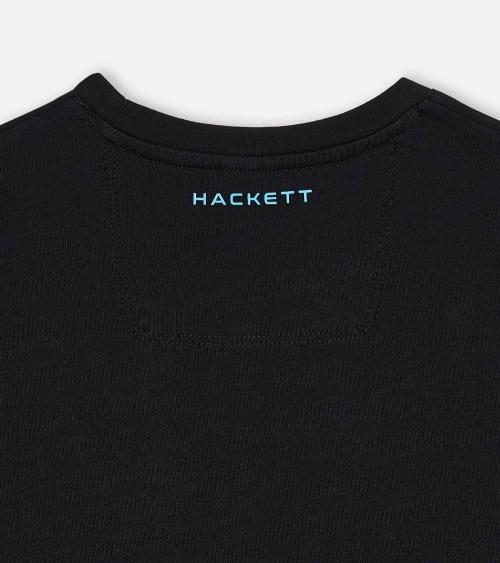 Hackett London Camiseta Negra Aston logo