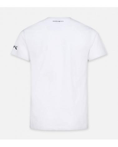 Hackett London Camiseta Blanca Aston espalda