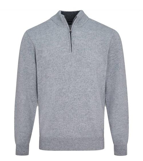 Hackett London Jersey Perkins Grey Zip