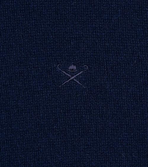 Hackett London Cardigan Zip Navy logo