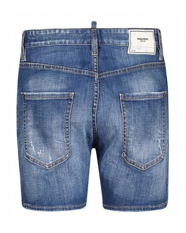Dsquared2 Bermuda Jeans Buttons detrás