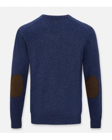 Hackett London Jersey Pico Blue espalda