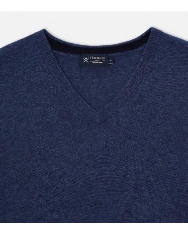Hackett London Jersey Pico Blue detalle
