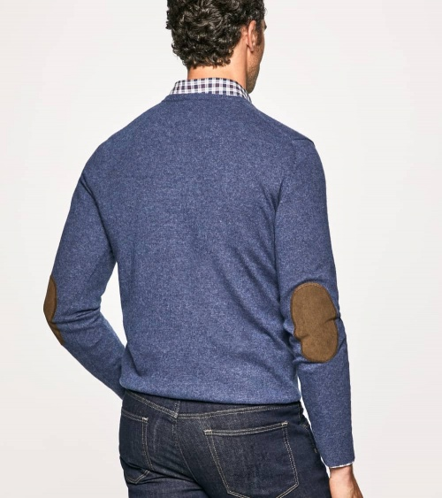 Hackett London Jersey Pico Blue modelo espalda