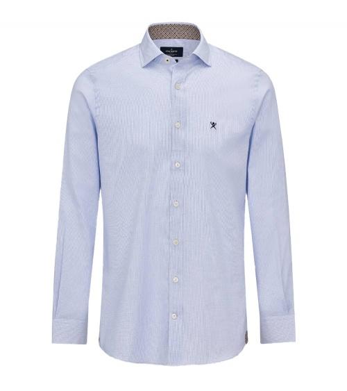 Hackett London Camisa Multi Trim Sky