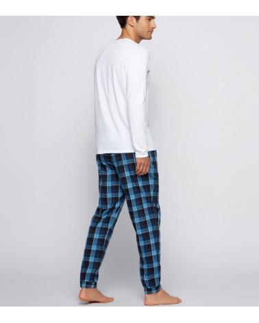 Hugo Boss Pijama Nates Blue White detrás