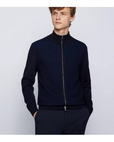 Hugo Boss Cardigan Madori Blue modelo