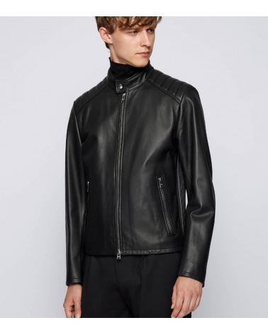 Hugo Boss Cazadora  Gelan Piel Black modelo