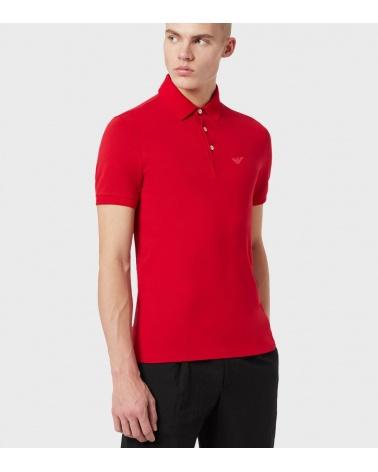 Emporio Armani Polo Rojo Liso modelo