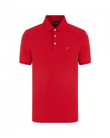 Emporio Armani Polo Rojo Liso