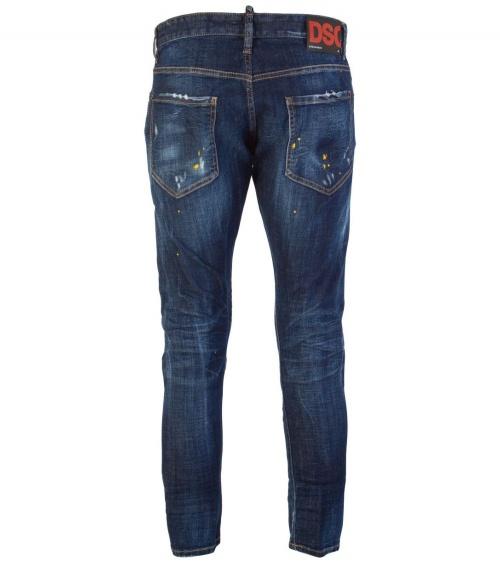 Jeans Maxi Etiqueta  Dsquared2 detrás