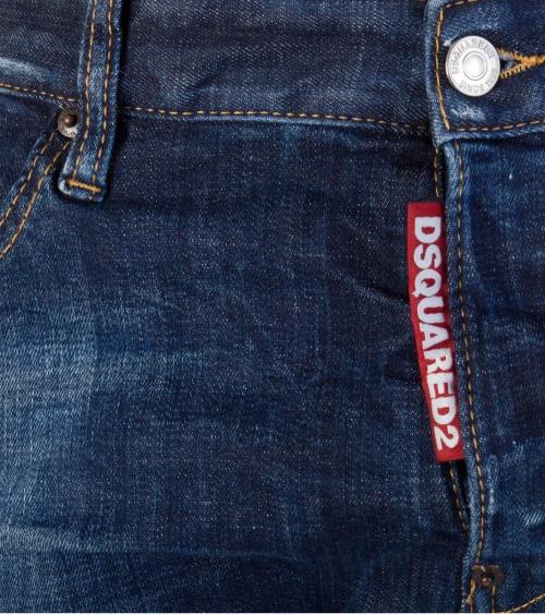 Jeans Maxi Etiqueta  Dsquared2 detalle