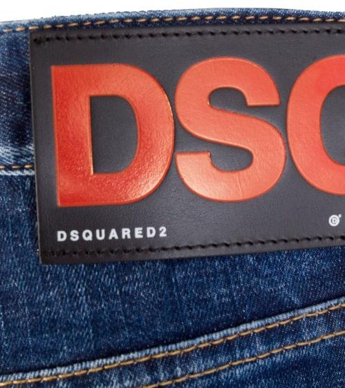 Jeans Maxi Etiqueta  Dsquared2 logo