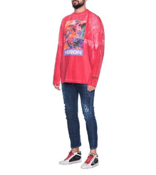 Jeans Maxi Etiqueta Dsquared2 modelo
