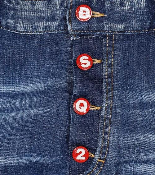 Bermuda Jeans Buttons Desquared2 detalle