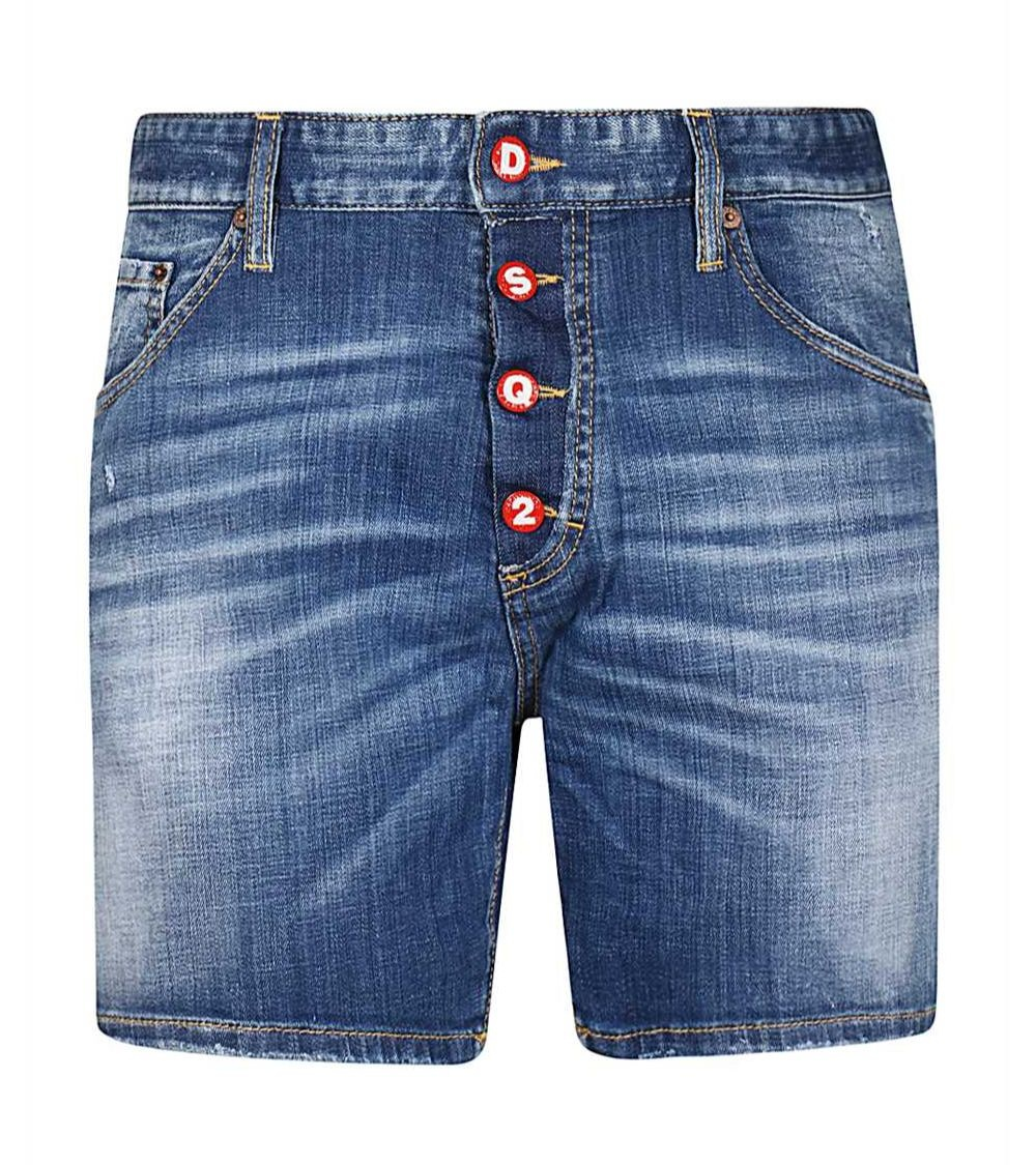 Dsquared2 Bermuda Jeans Buttons