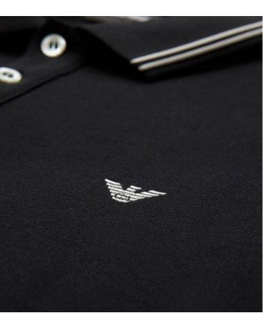 Emporio Armani Polo Negro Class detalle