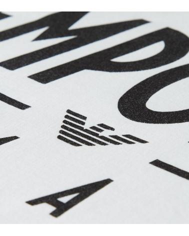Emporio Armani Camiseta Maxi Logotipo detalle