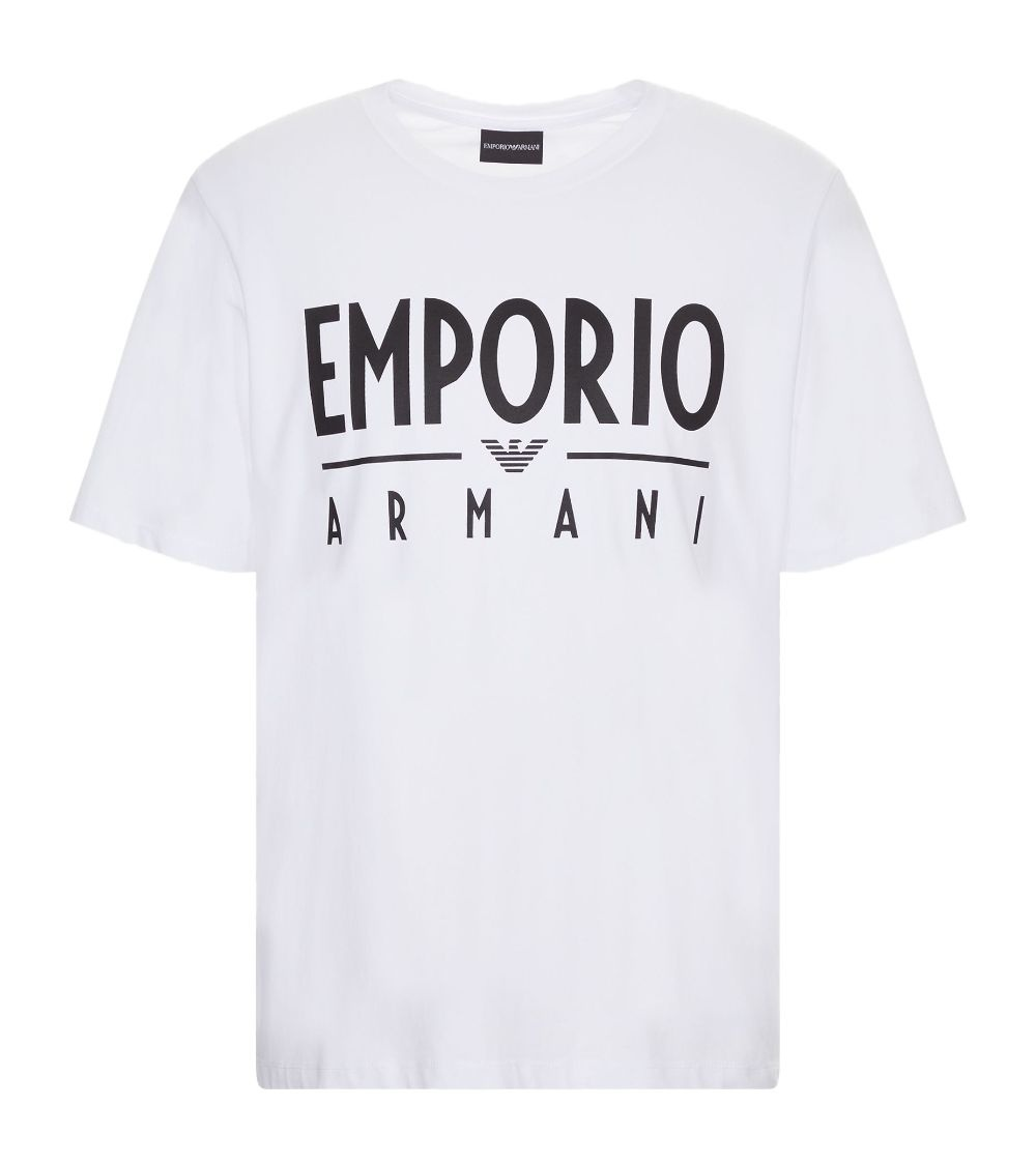 Emporio Armani Camiseta Maxi Logotipo