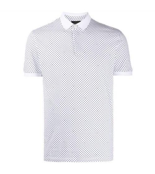 Emporio Armani Polo Blanco Topos