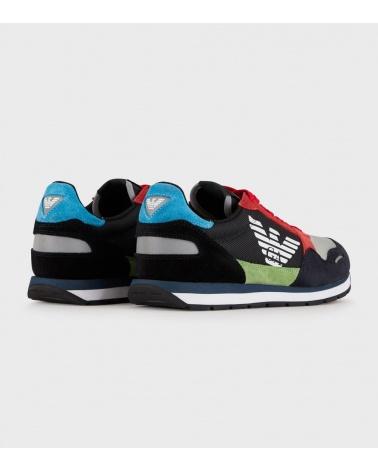 Emporio Armani Sneaker Multicolor detrás
