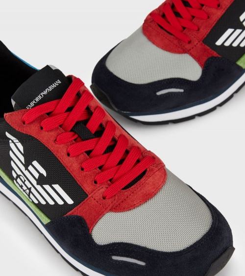 Emporio Armani Sneaker Multicolor detalle