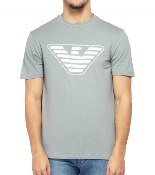 Emporio Armani Camiseta Gris Logo modelo
