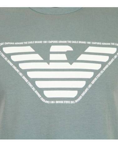 Emporio Armani Camiseta Gris Logo marca