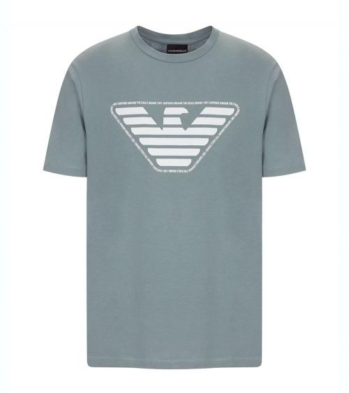 Emporio Armani Camiseta Gris Logo
