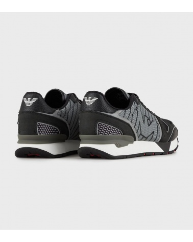 Emporio Armani Sneaker Patchwork detrás