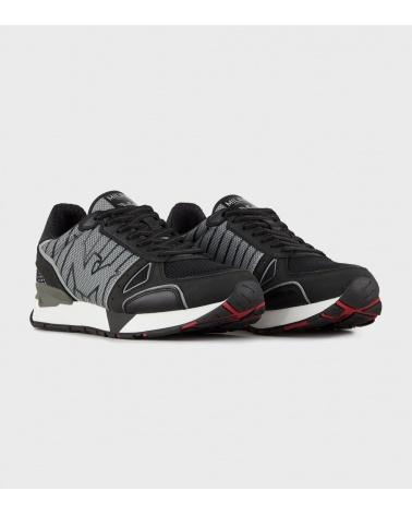 Emporio Armani Sneaker Patchwork lateral