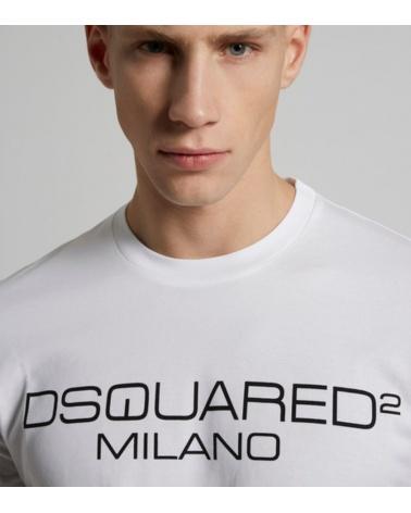 Camiseta Logo Milano Dsquared2 detalle