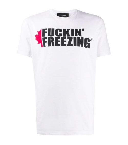 Dsquared2 Camiseta Blanca Freezing