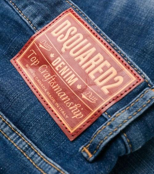 Dsquared2 Jeans Skater Pintura etiqueta