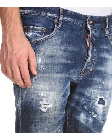 Dsquared2 Jeans Skater Pintura modelo detalle