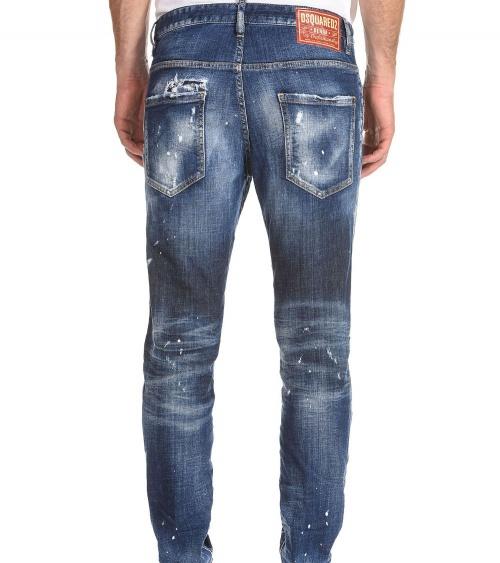 Dsquared2 Jeans Skater Pintura modelo detrás