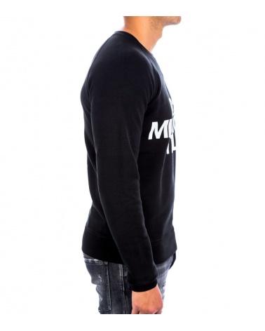 Dsquared2 Sudadera Negra Milano modelo lateral