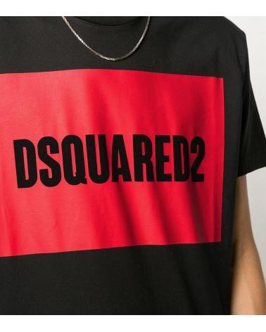 Dsquared2 Camiseta Marino Geometric detalle