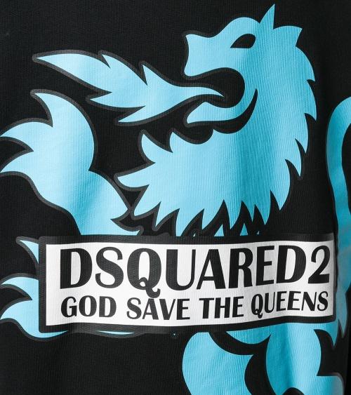 Dsquared2 Sudadera Negra Dragón detalle