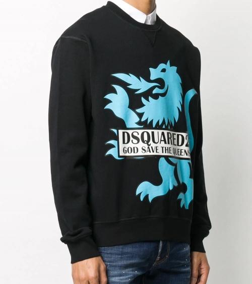 Dsquared2 Sudadera Negra Dragón modelo
