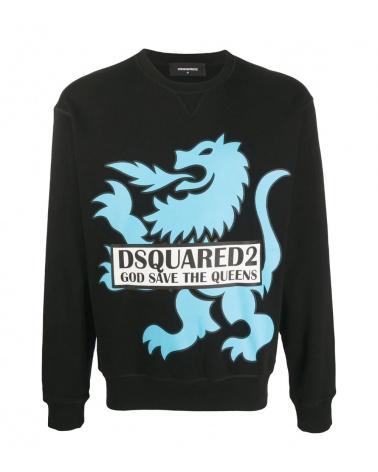 Dsquared2 Sudadera Negra Dragón