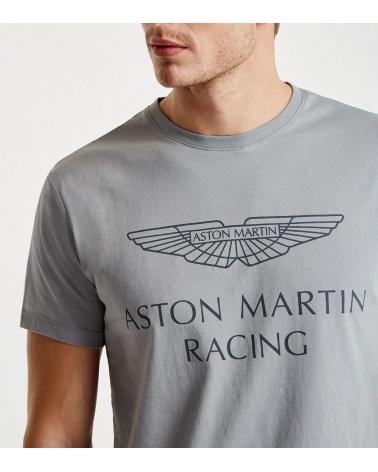 Hackett London Camiseta Aston Martin Gris detalle