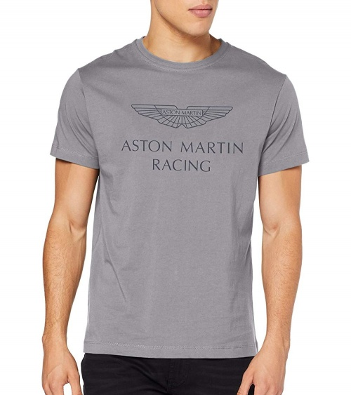 Hackett London Camiseta Aston Martin Gris