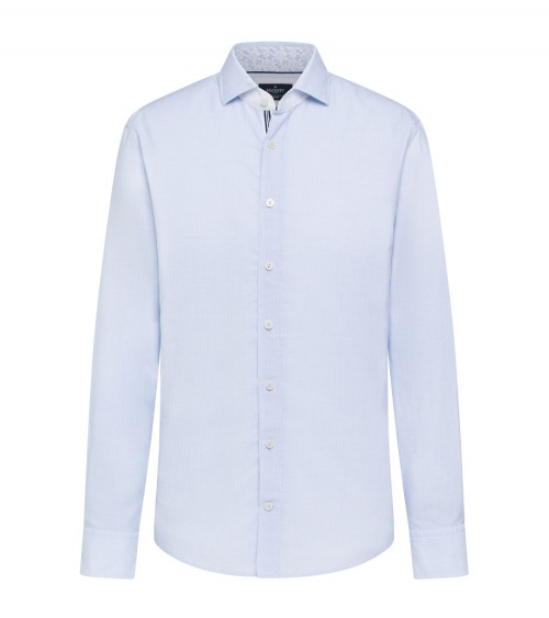 Hackett London Camisa Micro Rayas